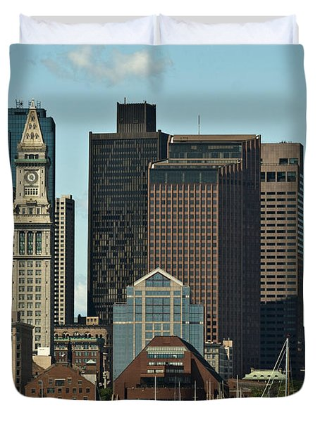 Duvet Cover featuring the photograph Boston Skyline by Caroline Stella