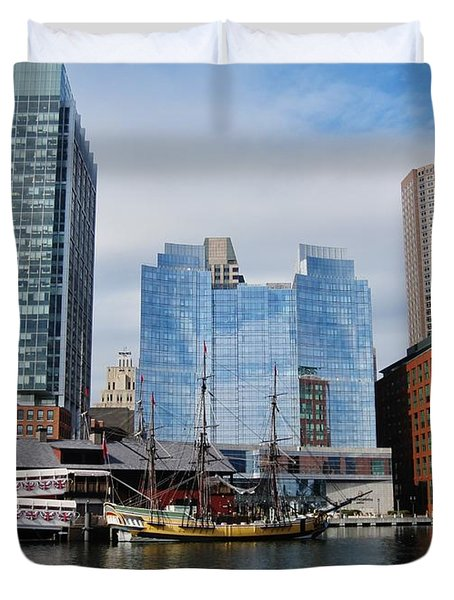 Boston Skyline I Duvet Cover