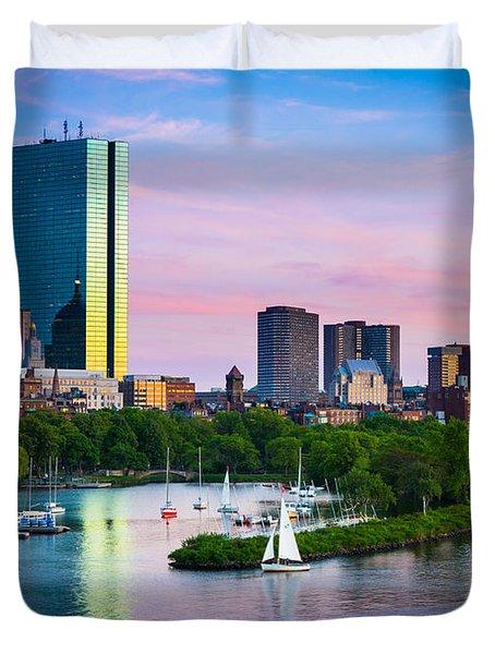 Boston Skyline Duvet Cover by Inge Johnsson
