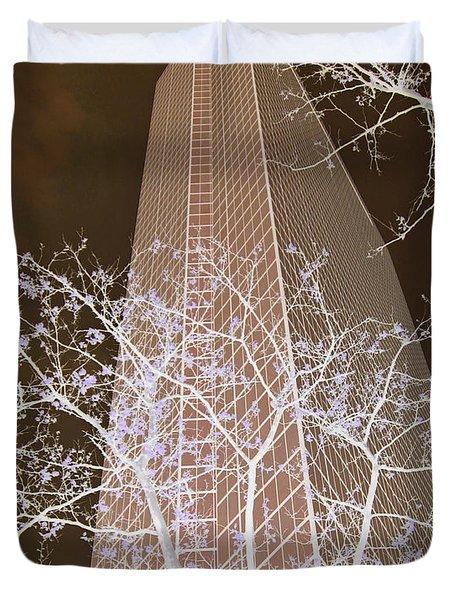 Boston Skyscraper Duvet Cover by Cheryl Del Toro