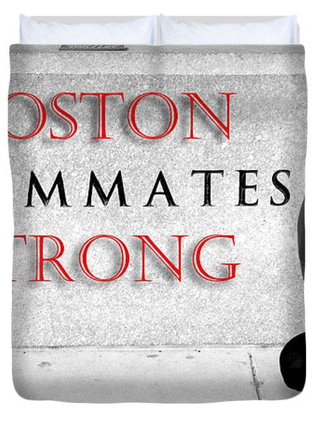 Boston Strong Duvet Cover by Greg Fortier