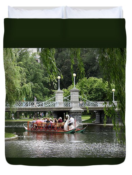 Boston Swan Boat Duvet Cover by Christiane Schulze Art And Photography
