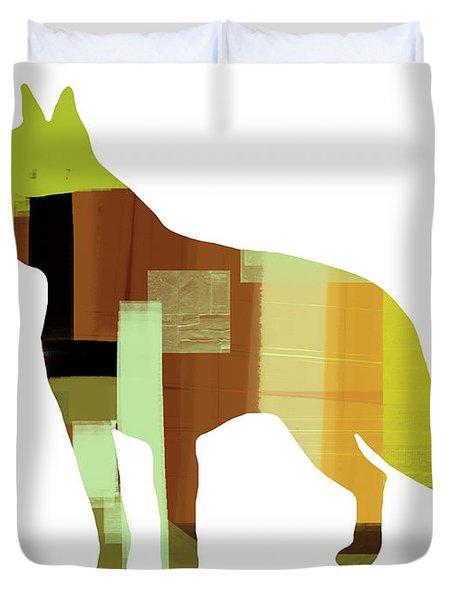 Boston Terrier Duvet Cover by Naxart Studio
