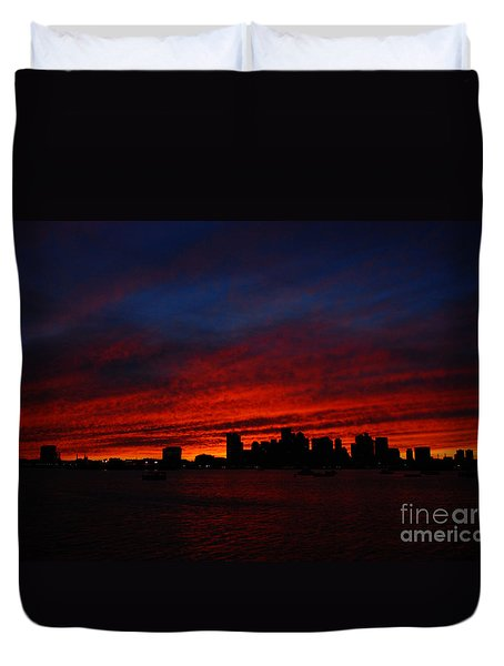 Boston Twilight Duvet Cover
