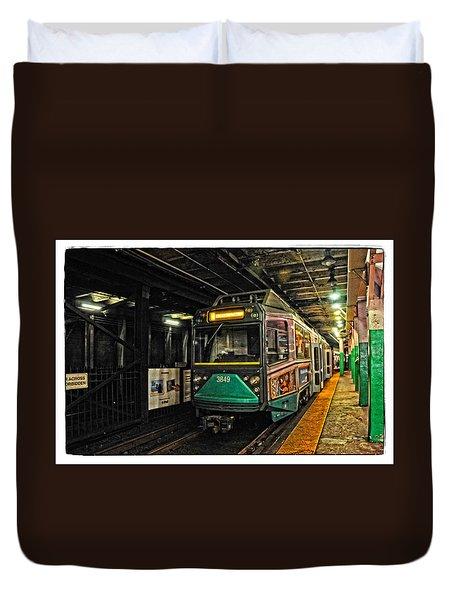 Boston's Mbta Green Line Duvet Cover by Mike Martin