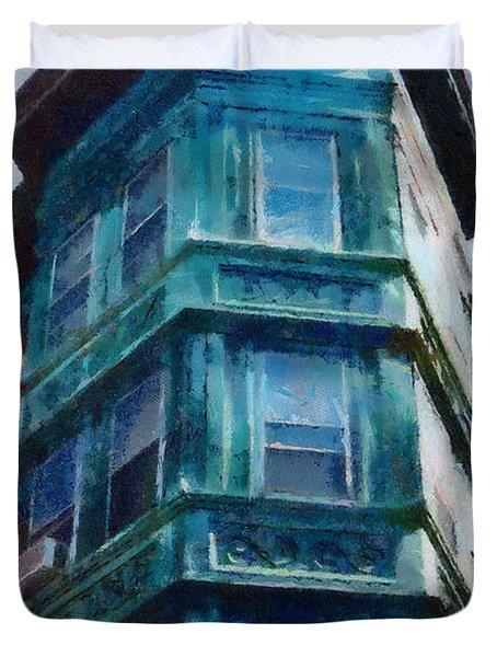 Boston's North End Duvet Cover by Jeff Kolker