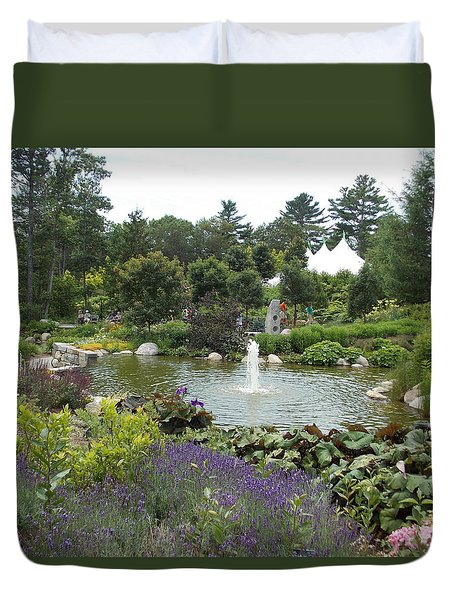 Botanical Gardens In Maine Duvet Cover
