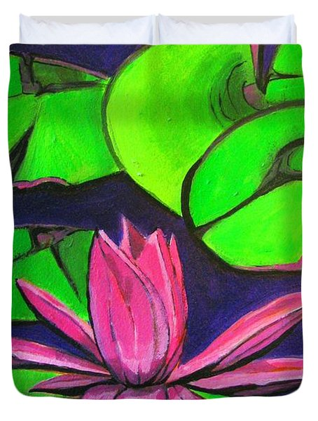 Botanical Lotus 1 Duvet Cover