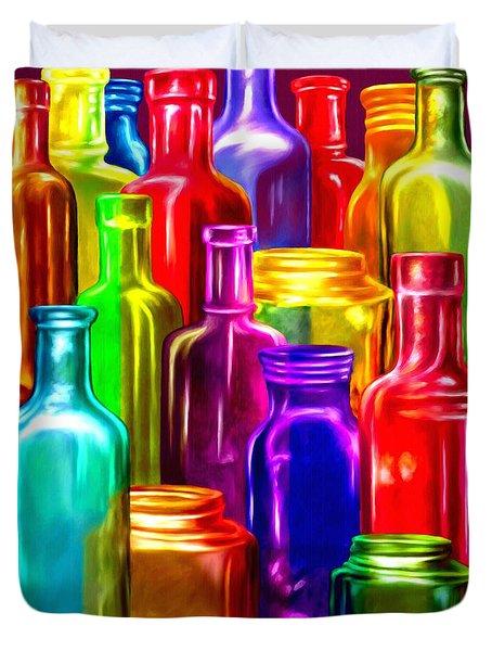 Bottle Bounty Duvet Cover by Ric Darrell