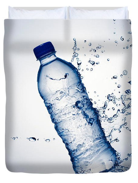 Bottle Water And Splash Duvet Cover