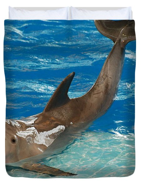 Bottlenose Dolphin Duvet Cover by DejaVu Designs