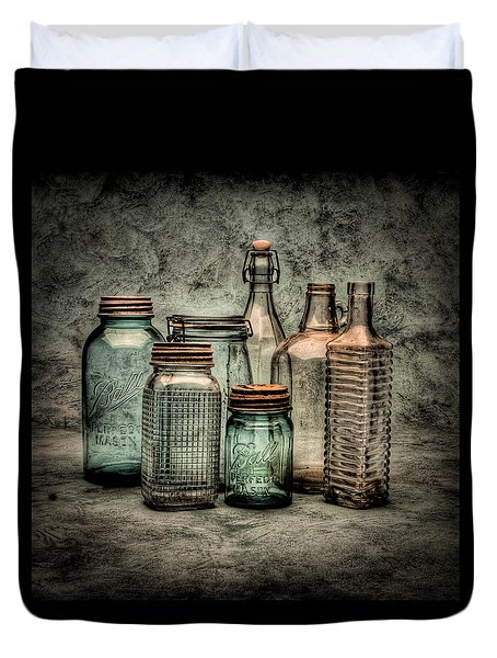 Bottles II Duvet Cover by Timothy Bischoff