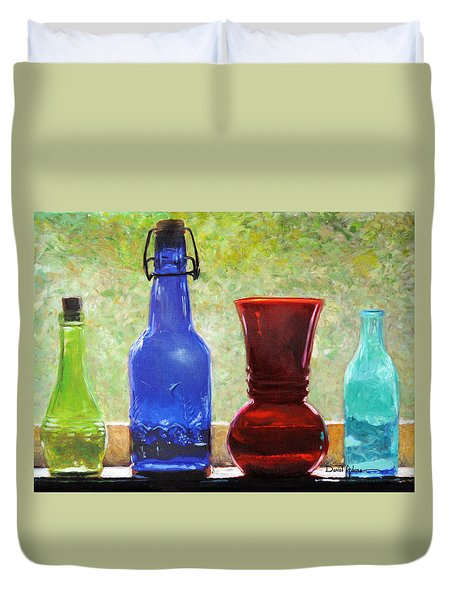 Da142 Bottles Of Time Daniel Adams Duvet Cover
