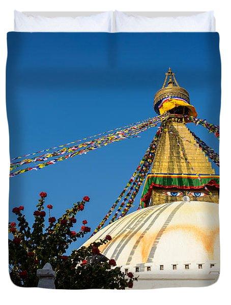 Boudhanath Stupa Duvet Cover