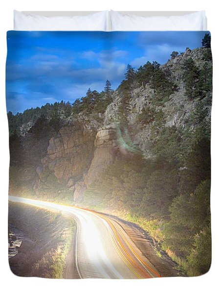 Boulder Canyon Neon Light  Duvet Cover by James BO  Insogna