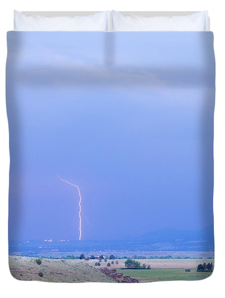 Boulder Colorado Lightning Strike Duvet Cover by James BO  Insogna