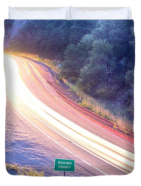 Boulder County Colorado Blazing Canyon View Duvet Cover by James BO  Insogna