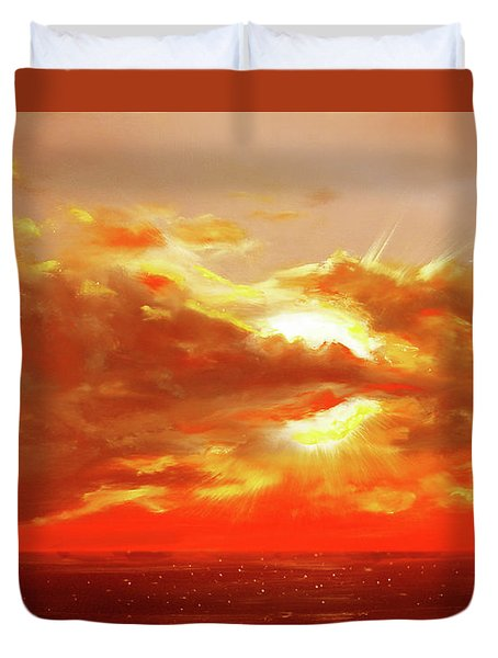 Bound Of Glory - Red Sunset  Duvet Cover