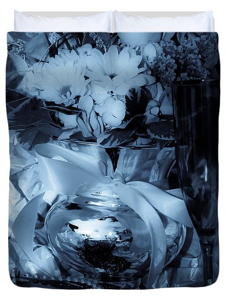 Bouquet And Beads Duvet Cover by DigiArt Diaries by Vicky B Fuller