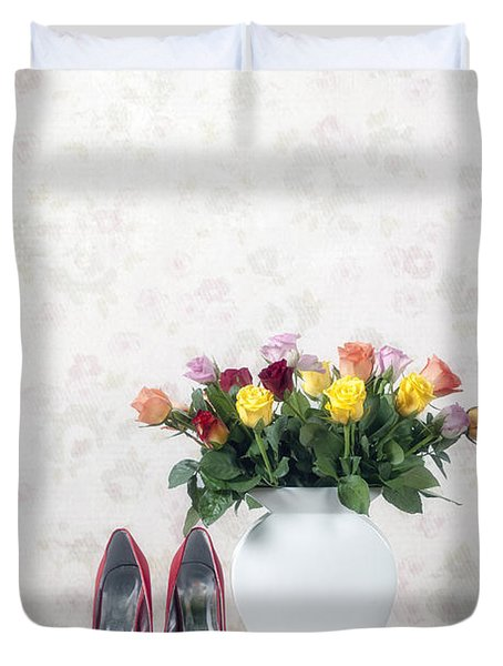 Bouquet Of Roses Duvet Cover by Joana Kruse