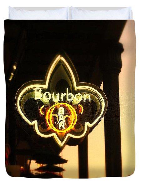 Bourbon Street Bar New Orleans Duvet Cover