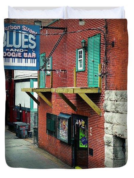 Bourbon Street Blues Duvet Cover