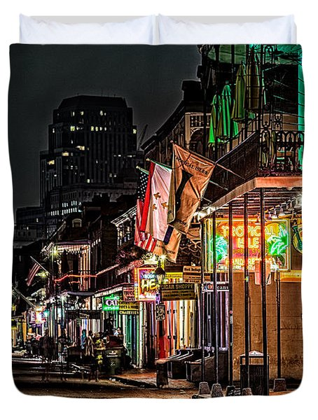 Bourbon Street Glow Duvet Cover