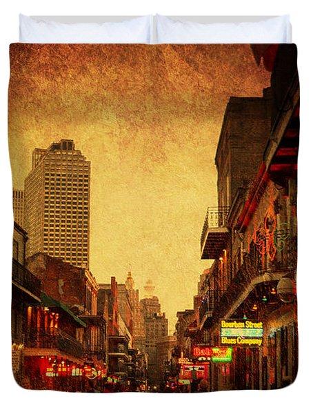 Bourbon Street Grunge Duvet Cover