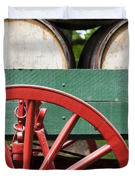 Bourbon Wagon Duvet Cover by Alexey Stiop