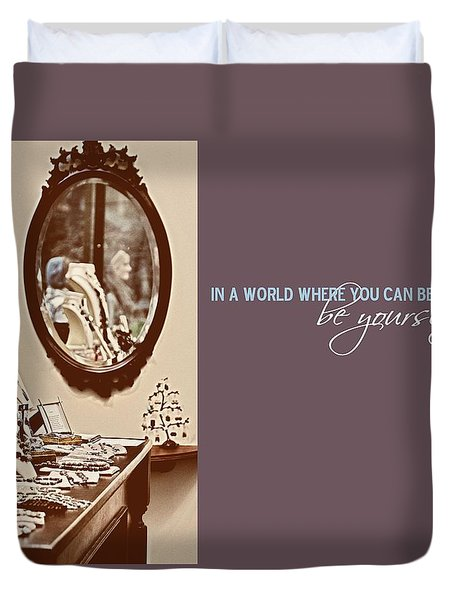 Boutique Quote Duvet Cover by JAMART Photography