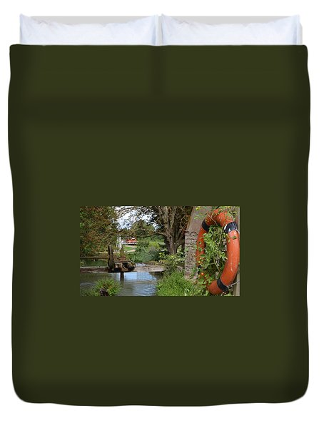 Bouy By Canal Duvet Cover