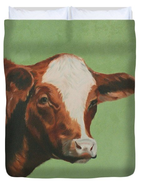 Bovine Beauty Duvet Cover