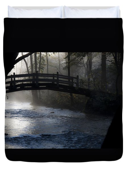 Bow Bridge At Valley Forge Duvet Cover by Bill Cannon