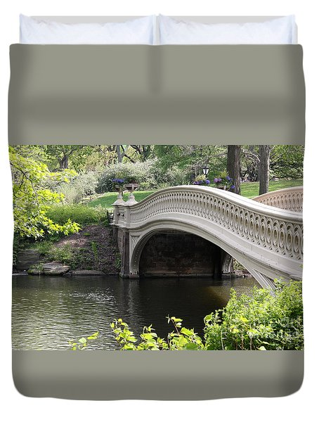 Bow Bridge Iv Duvet Cover by Christiane Schulze Art And Photography