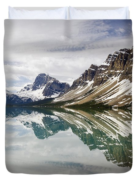 Bow Lake Duvet Cover by Dee Cresswell
