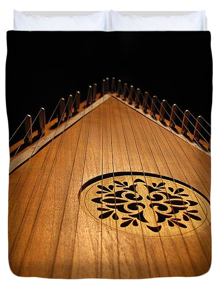 Bowed Psaltery Duvet Cover