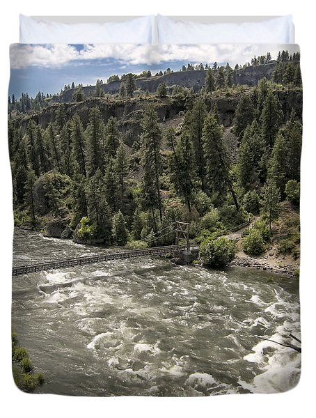 Bowl And Pitcher Area - Riverside State Park - Spokane Washington Duvet Cover by Daniel Hagerman