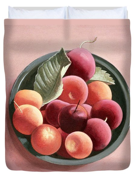 Bowl Of Fruit Duvet Cover by Tomar Levine