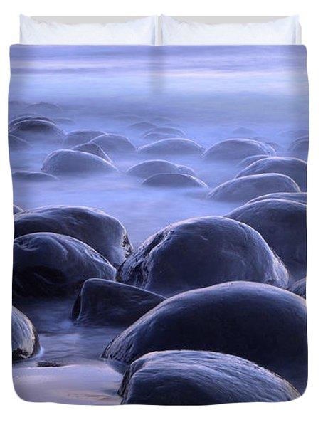 Bowling Ball Beach California Duvet Cover by Bob Christopher
