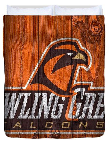 Bowling Green Falcons Barn Door Duvet Cover