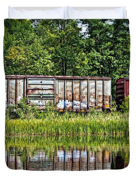 Boxcar Reflection Duvet Cover