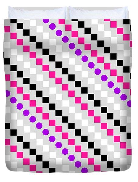 Boxed Stripe Duvet Cover