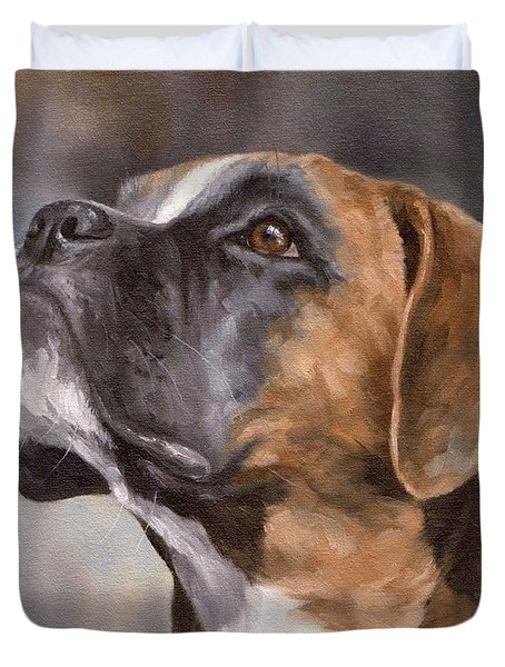 Boxer Painting Duvet Cover