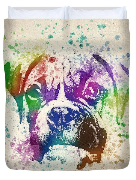Boxer Splash Duvet Cover by Aged Pixel
