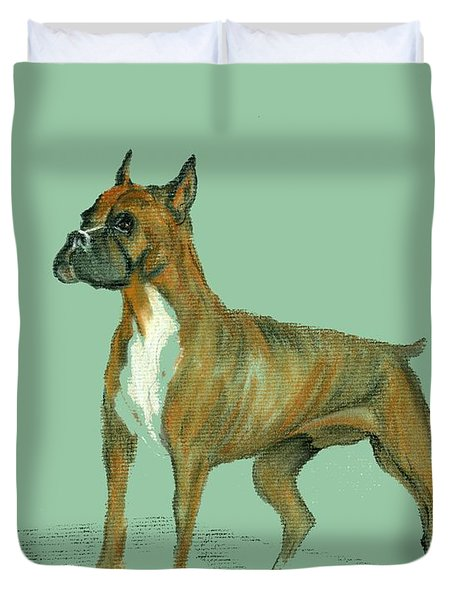 Boxer Duvet Cover by Terry Frederick