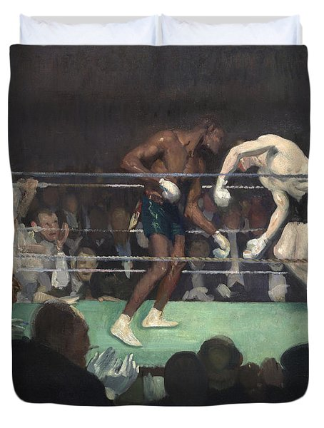Boxing Match, 1910 Duvet Cover by George Luks
