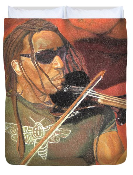 Boyd Tinsley At Red Rocks Duvet Cover by Joshua Morton