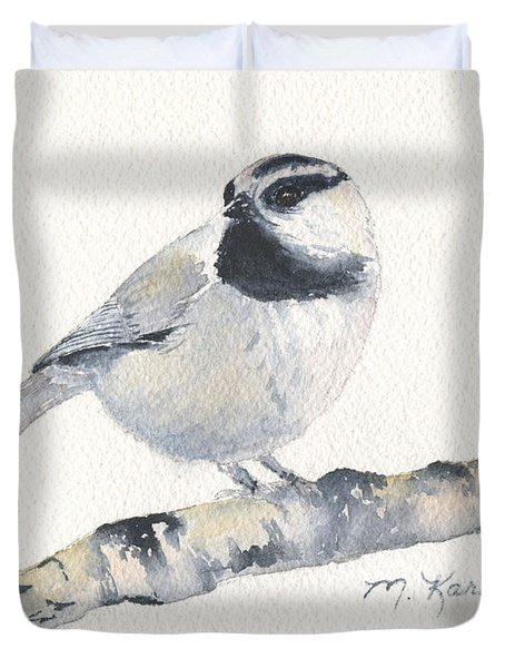 Bozeman Native - Mountain Chickadee Duvet Cover