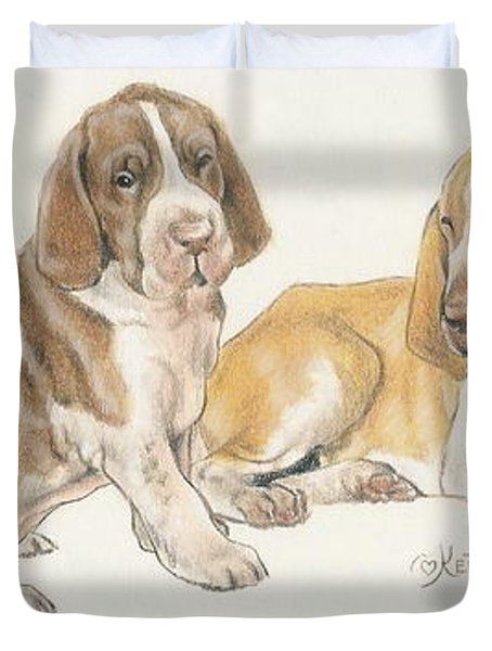 Bracco Italiano Puppies Duvet Cover