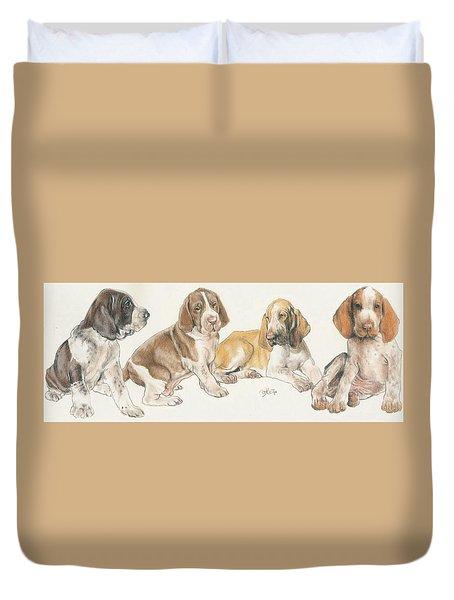 Bracco Italiano Puppies Duvet Cover